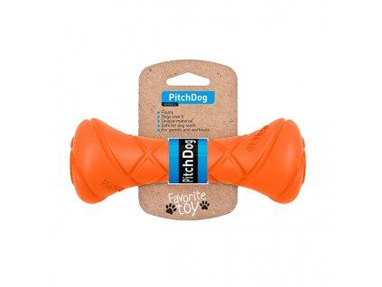 PitchDog činka pro psy oranžová