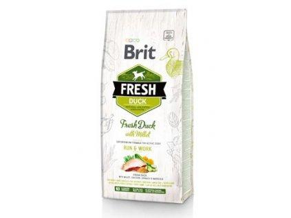 Brit Fresh Dog Duck & Millet Active Run & Work 12kg