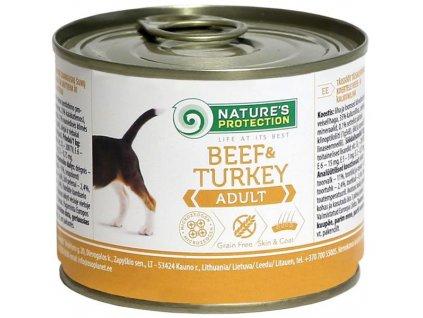 Nature's Protection Dog konz.Adult hovězí/krůta 200 g