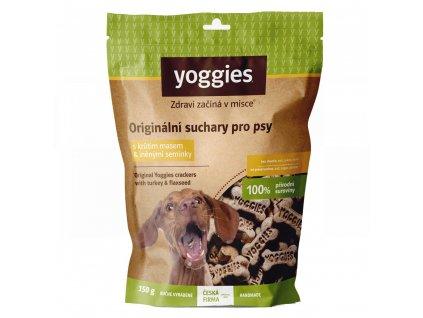 yoggies nove suchary pro psy s krutim masem 150g