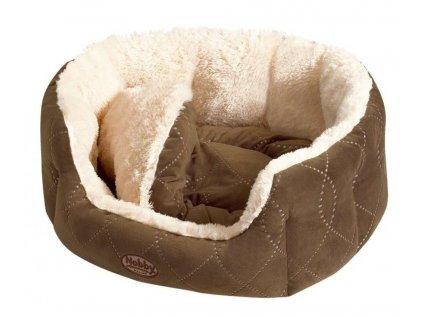 Nobby Ceno pelíšek pro psy hnědá 55x50x21cm