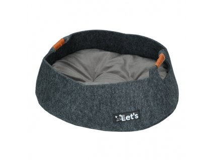 Let's Relaxing Basket - pelech s polštářkem - antracit