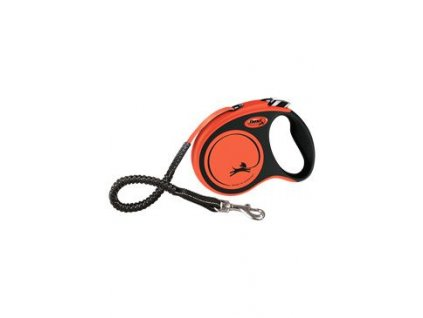 Vodítko FLEXI Xtreme S pásek 5m/20kg oranžová