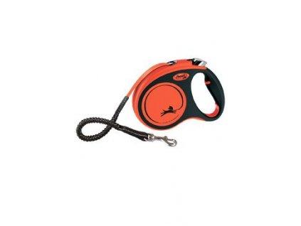 Vodítko FLEXI Xtreme M pásek 5m/35kg oranžová