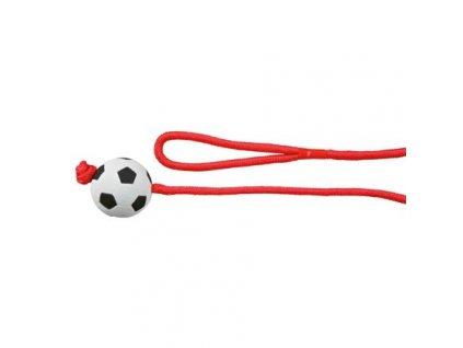 Vrhací míč mechová guma na šňůře 6cm/1m TRIXIE