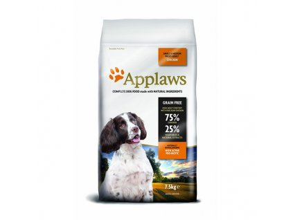 Applaws granule Dog Adult Small & Medium Breed Kuře 7,5kg - natržený pytel 5% sleva