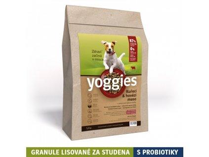 1 2kg kureci a hovezi maso granule lisovane za studena s probiotiky yoggies