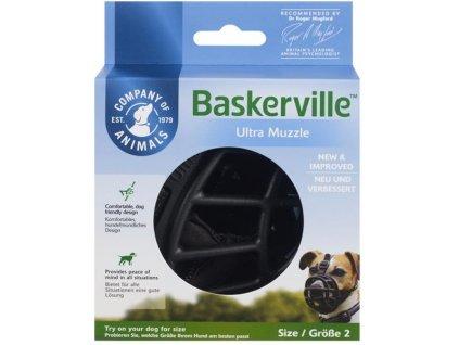 Náhubek plast Baskerville černý The Company vel. 4