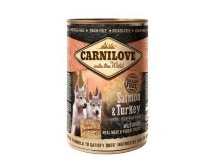 Carnilove Wild Meat Salmon & Turkey Puppies 400g