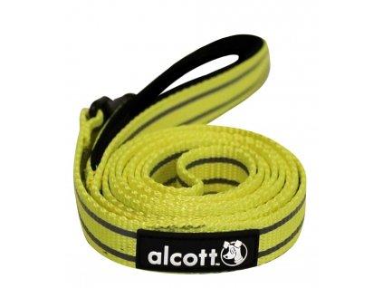 Alcott reflexní vodítko pro psy, žluté, velikost S