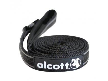 Alcott Reflexní vodítko pro psy, černé, velikost L