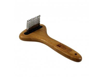 Bamboo Groom Malý hřeben vyčesávací s noži z nerezové oceli