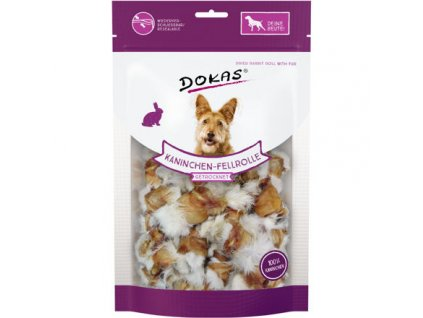 Dokas - Rolky z králičí kůže se srstí 100 g