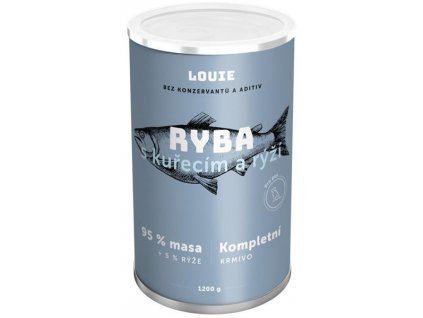 Louie konz. pro psy ryba s kuřecím a rýží 1200 g
