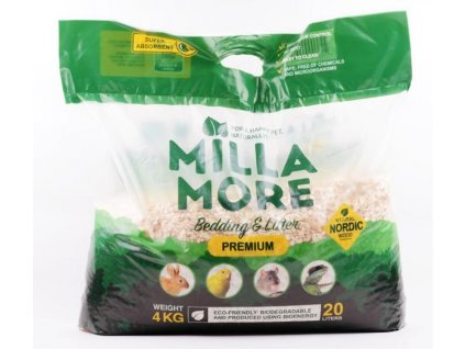 Podestýlka hlod. štěpky osika MillaMore Premium 20l/4kg