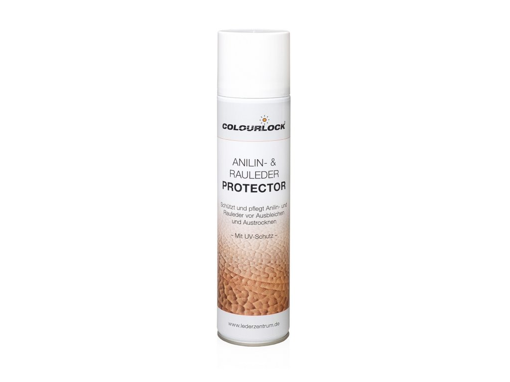 COLOURLOCK ANILINE PROTECTOR - Impregnace pro ošetření a ochranu broušených a hladkých anilínových kůží.