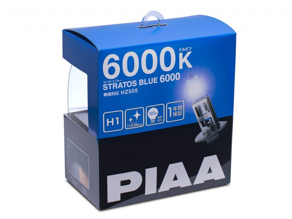 autozarovky piaa stratos blue 6000k h1 4