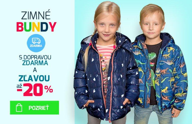 Akcia - detske zimne bundy s dopravou zdarma a zlavou az 20% - Pelea.sk
