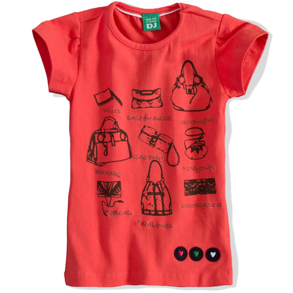 """""""Dievčenské tričko s krátkym rukávom DIRKJE """"""""PARIS"""""""" oranžové"""""""