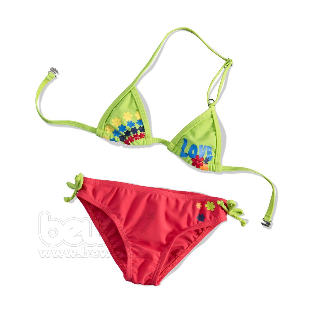 Dievčenské plavky 2-dielne, LOVE, CARODEL ružové