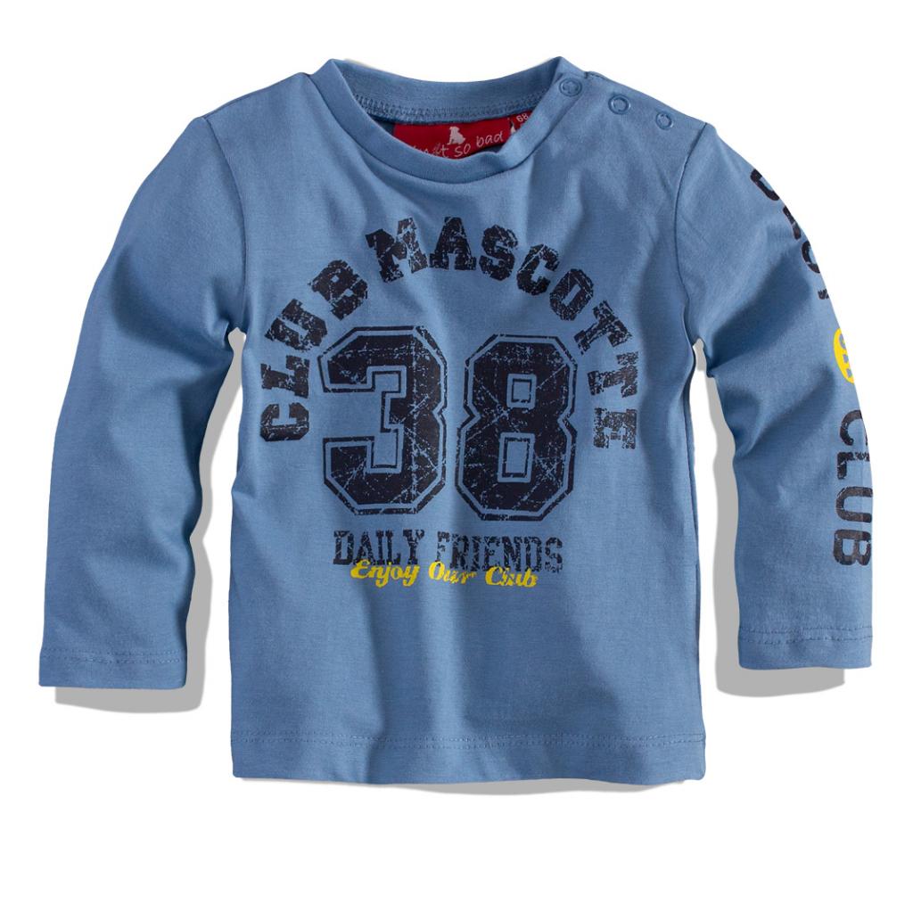 Dojčenské tričko s dlhým rukávom CARODEL Club Mascotte bledomodré