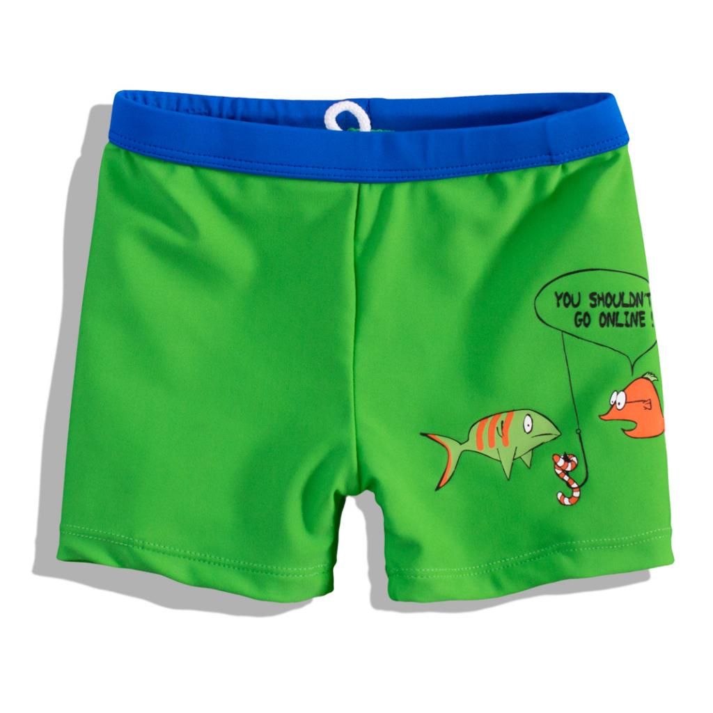 Chlapčenské plavky Knot So Bad rybičky zelené