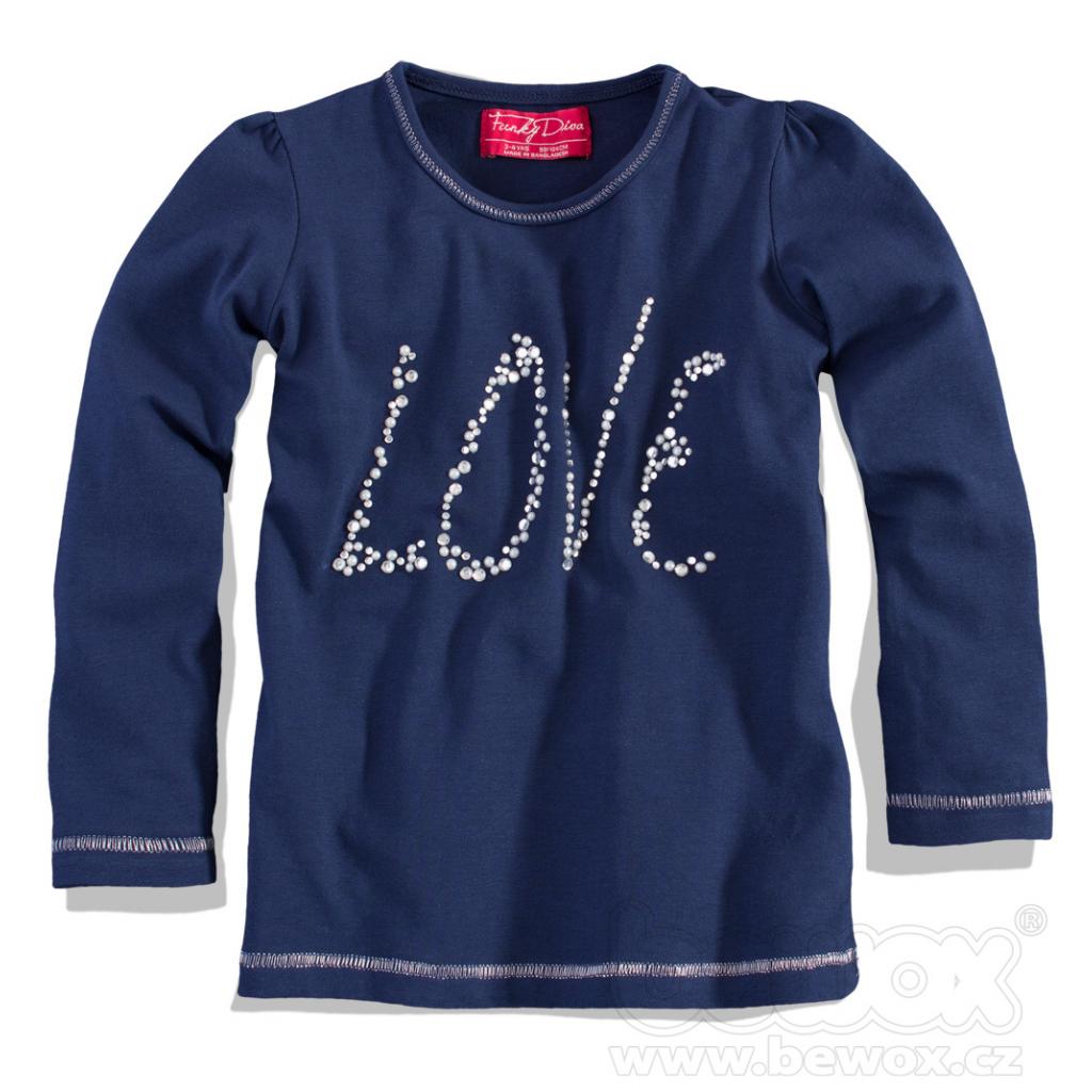 90a938b3cc6e Dievčenské tričko dlhý rukáv MINOTI GREY modré - PELEA.SK