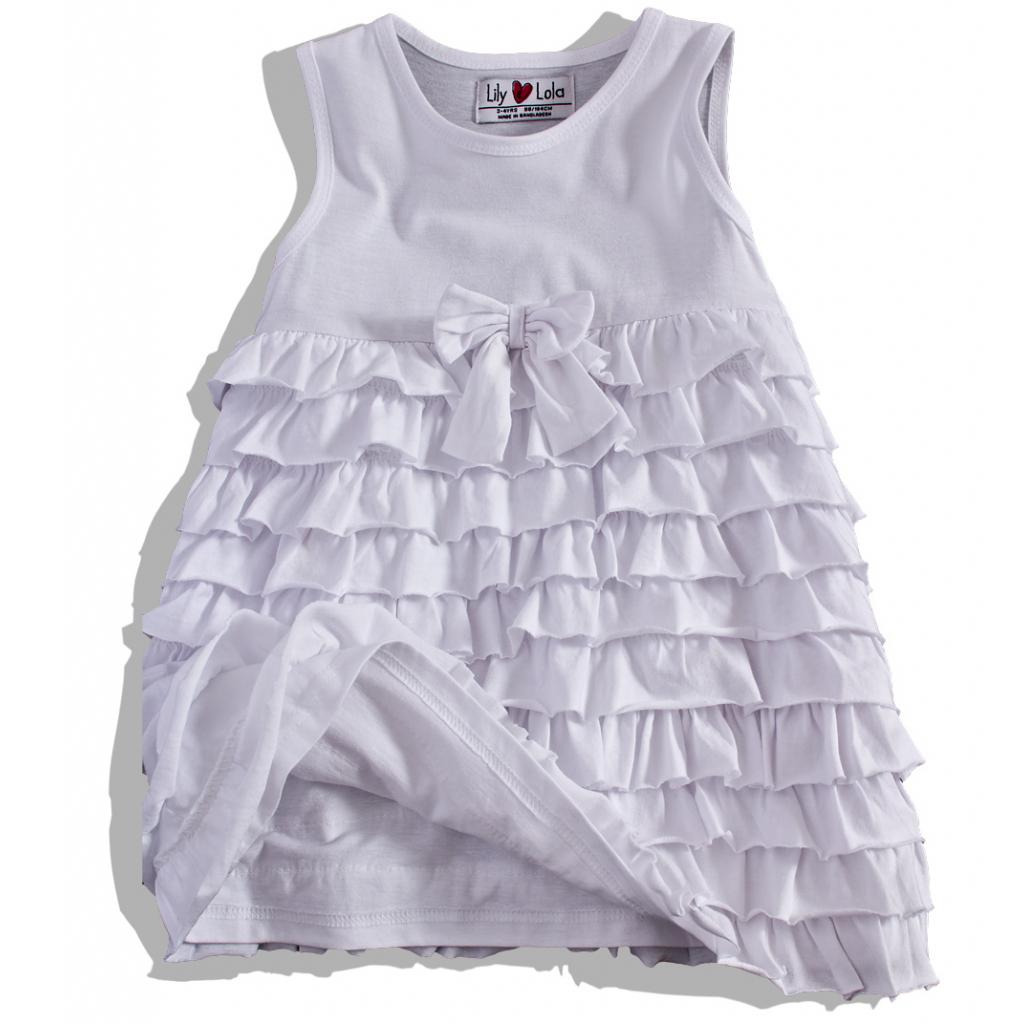 67e05fa69825 Dievčenské letné šaty s volánikmi