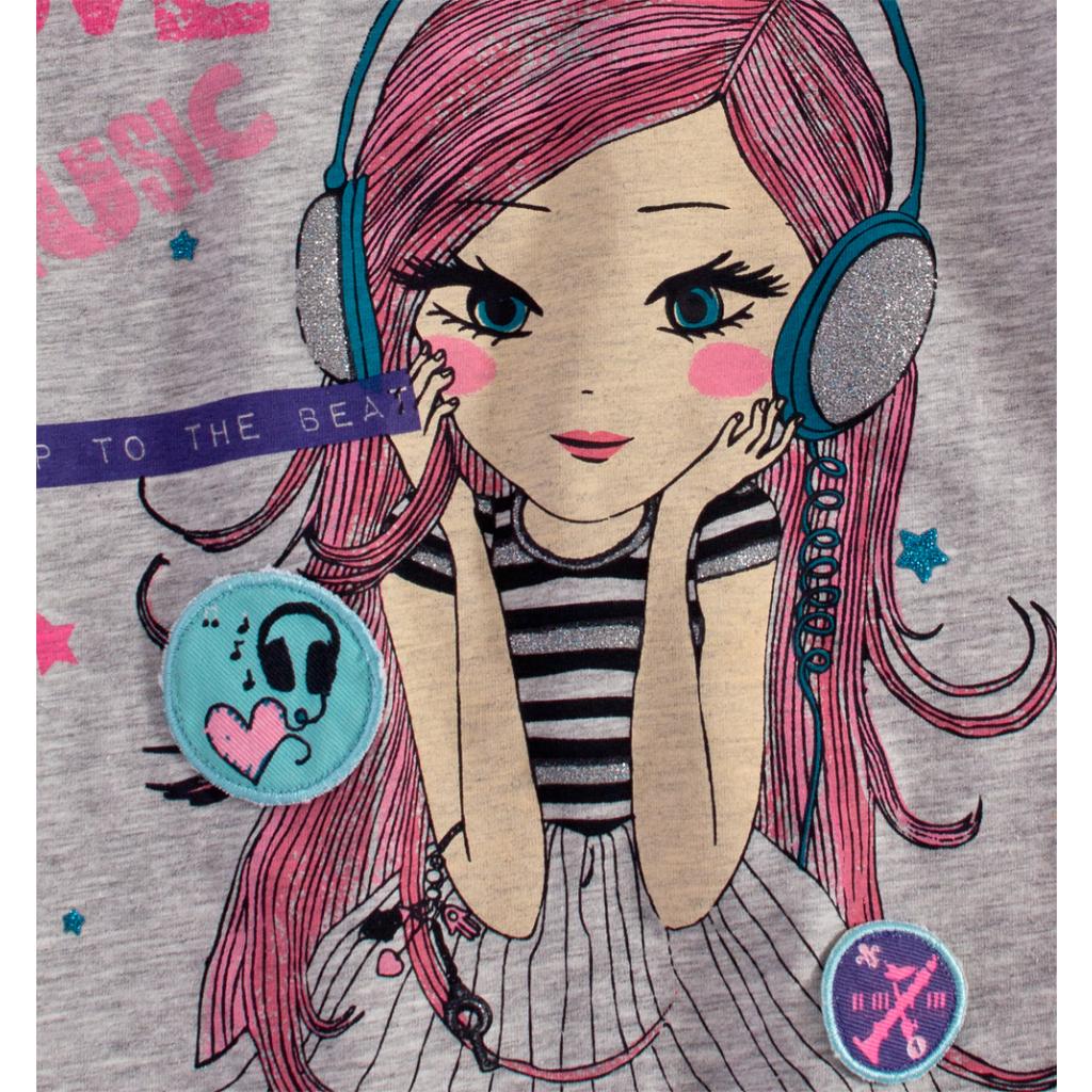 5888adc46c638 Dievčenské tričko s dlhým rukávom Lilly&Lola - PELEA.SK