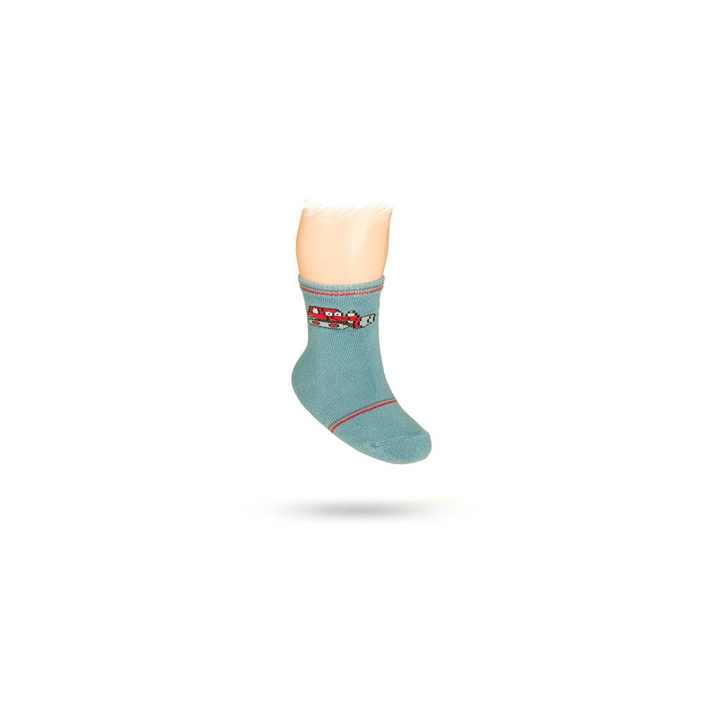 Dojčenské ponožky s obrázkom BULDOZÉRU, modré, WOLA