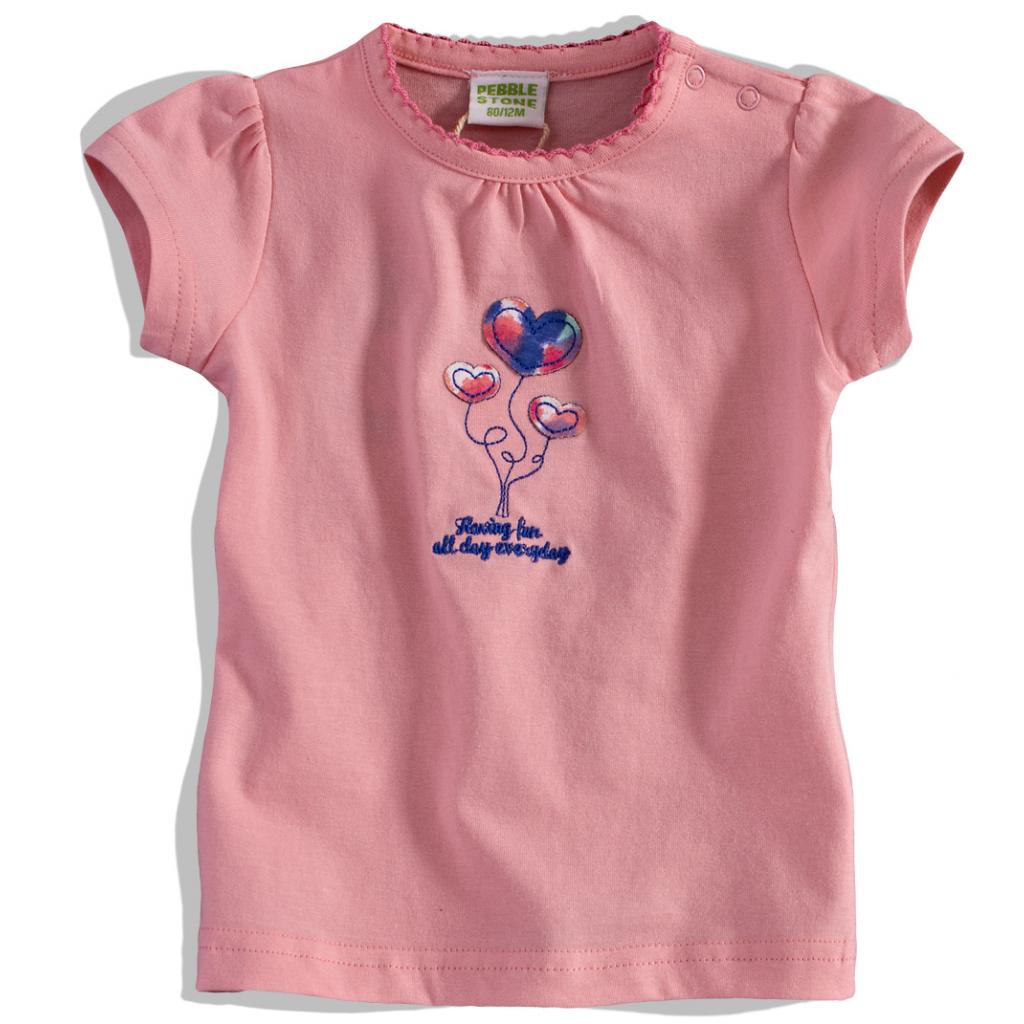 Dojčenské dievčenské tričko PEBBLESTONE