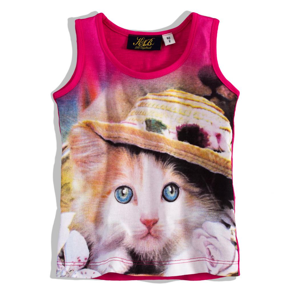 Dievčenské tričko bez rukávov KnotSoBad