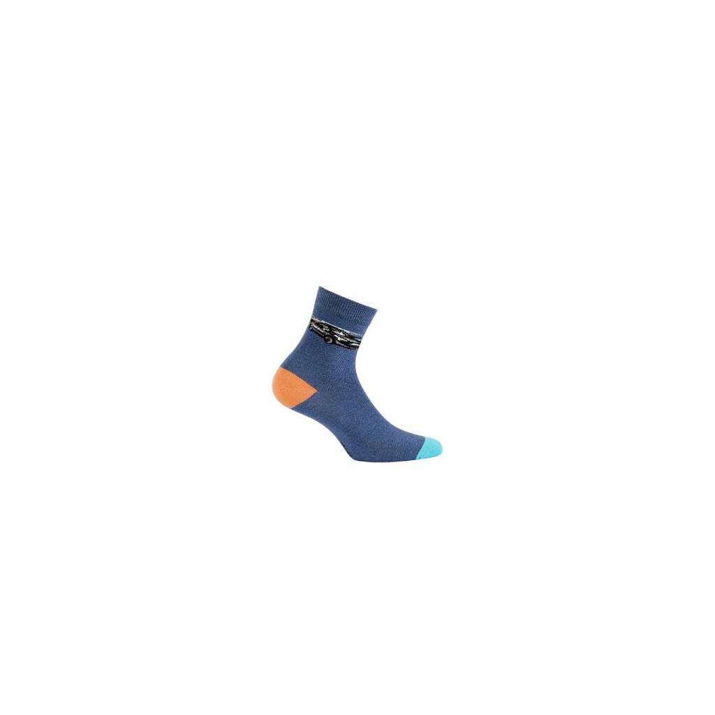Ponožky WOLA vzorované, AUTO