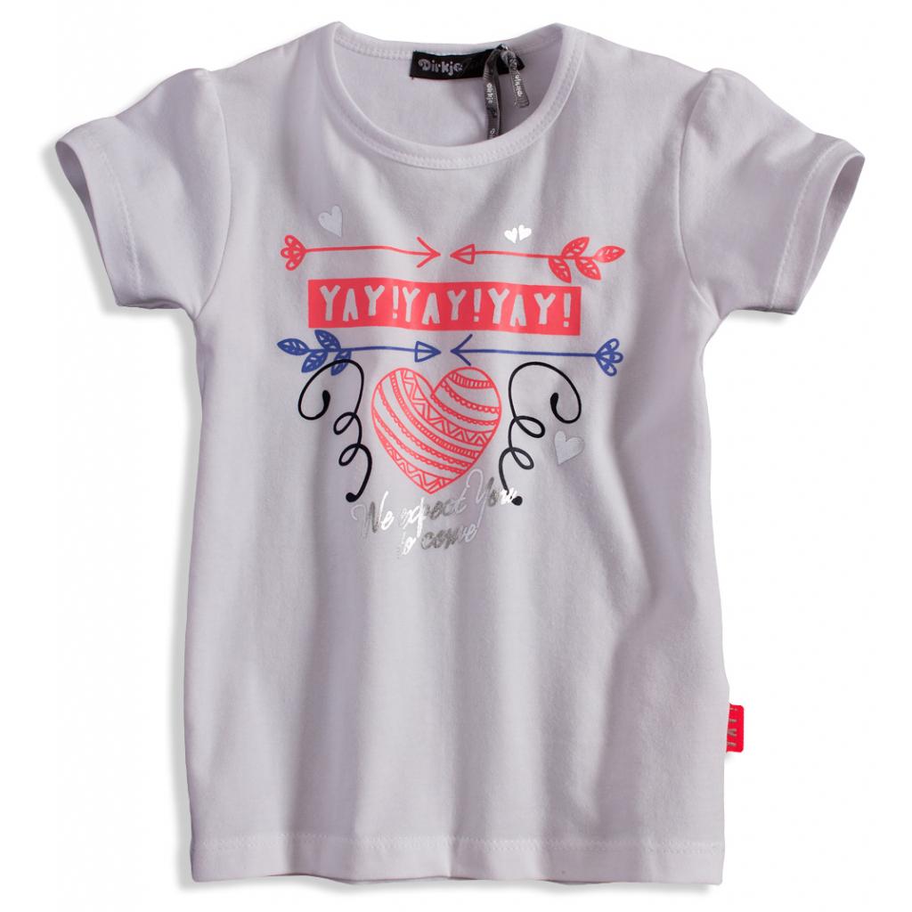 Dievčenské tričko s krátkym rukávom DIRKJE YAY biele
