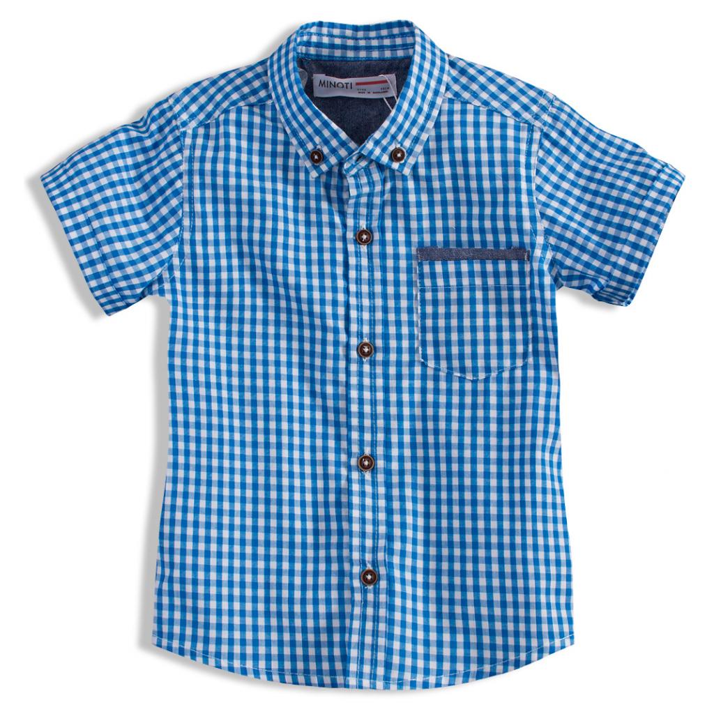 7dd77cc2cdc8 Chlapčenská košeľa s krátkym rukávom CRAFTED modrá - PELEA.SK