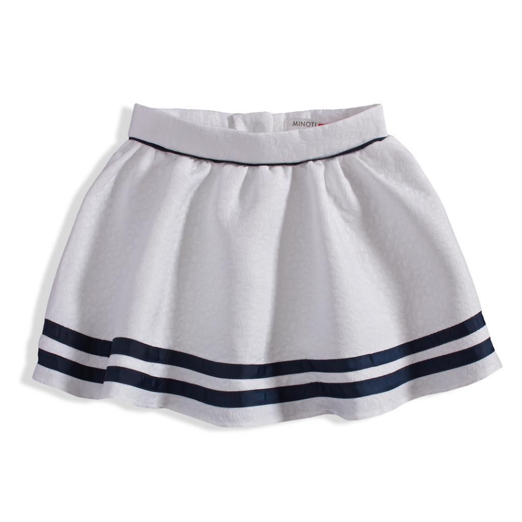Dievčenská kruhová sukňa MINOTI biela