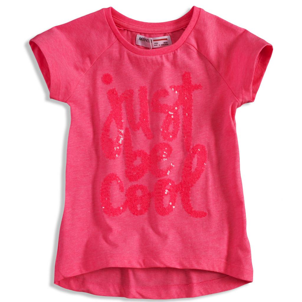 Detské tričko s krátkym rukávom MINOTI VIBE ružové