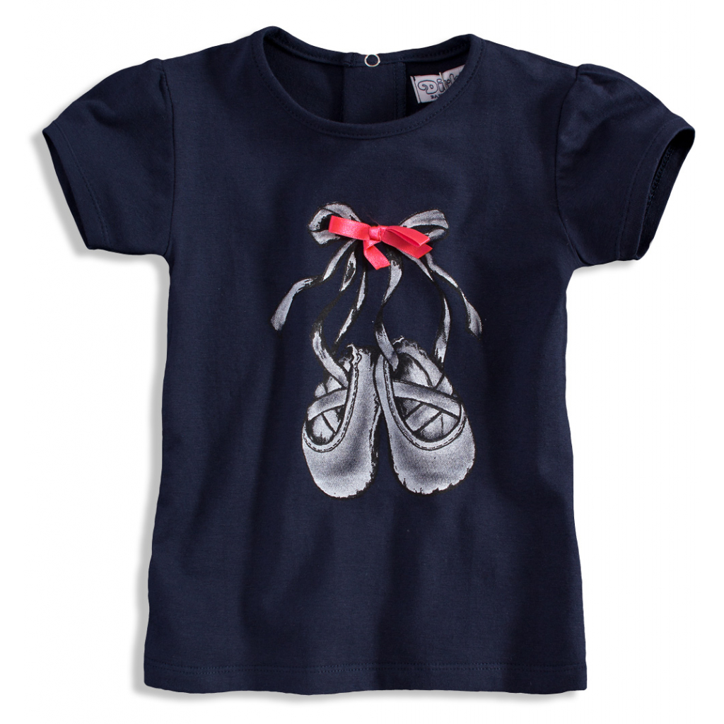 Dievčenské tričko DIRKJE balerína tmavomodré