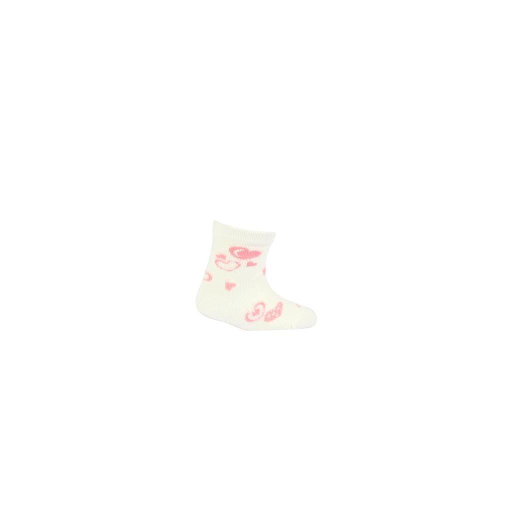 Dojčenské ponožky GATTA SRDIEČKA smotanová