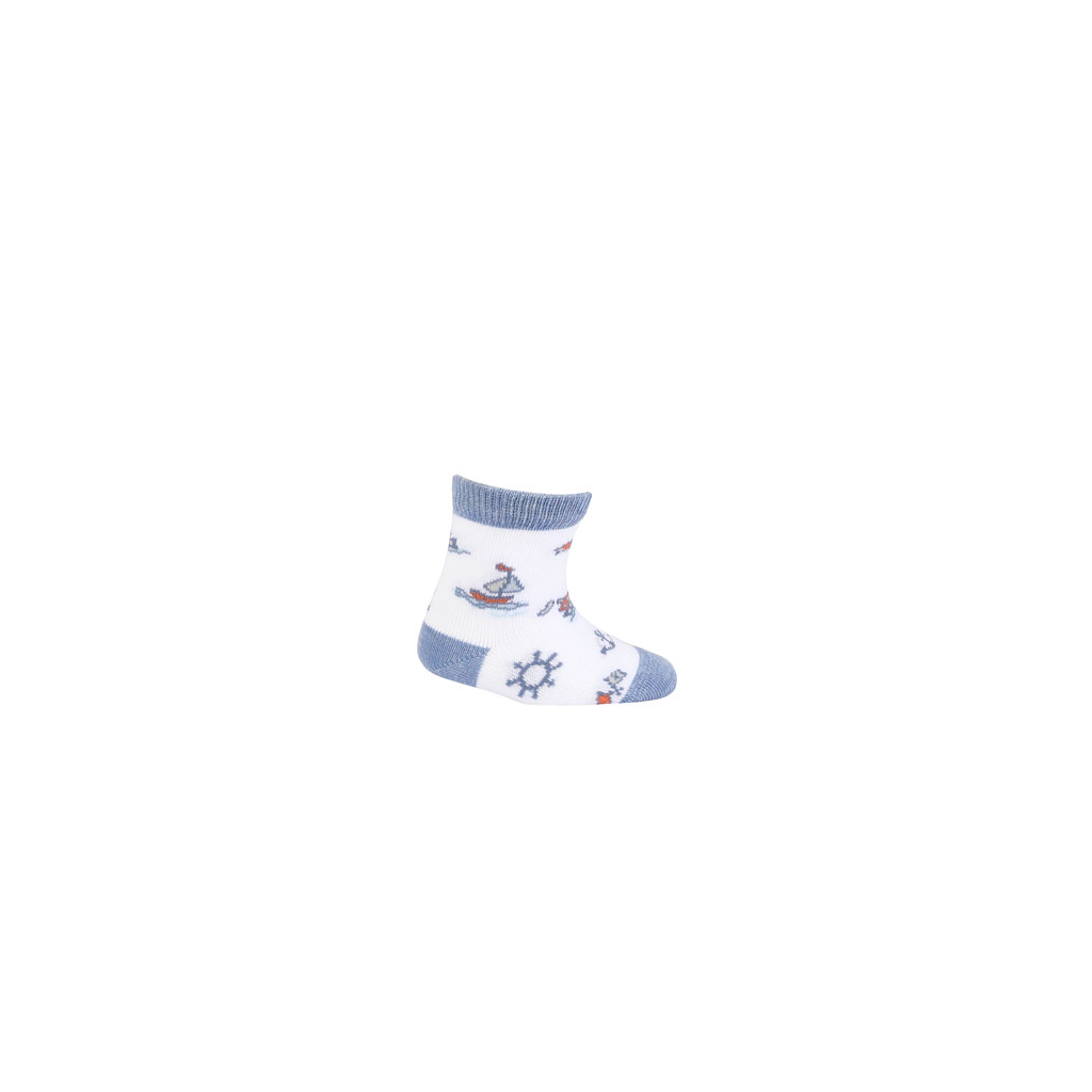 Dojčenské ponožky GATTA LOĎKA biele