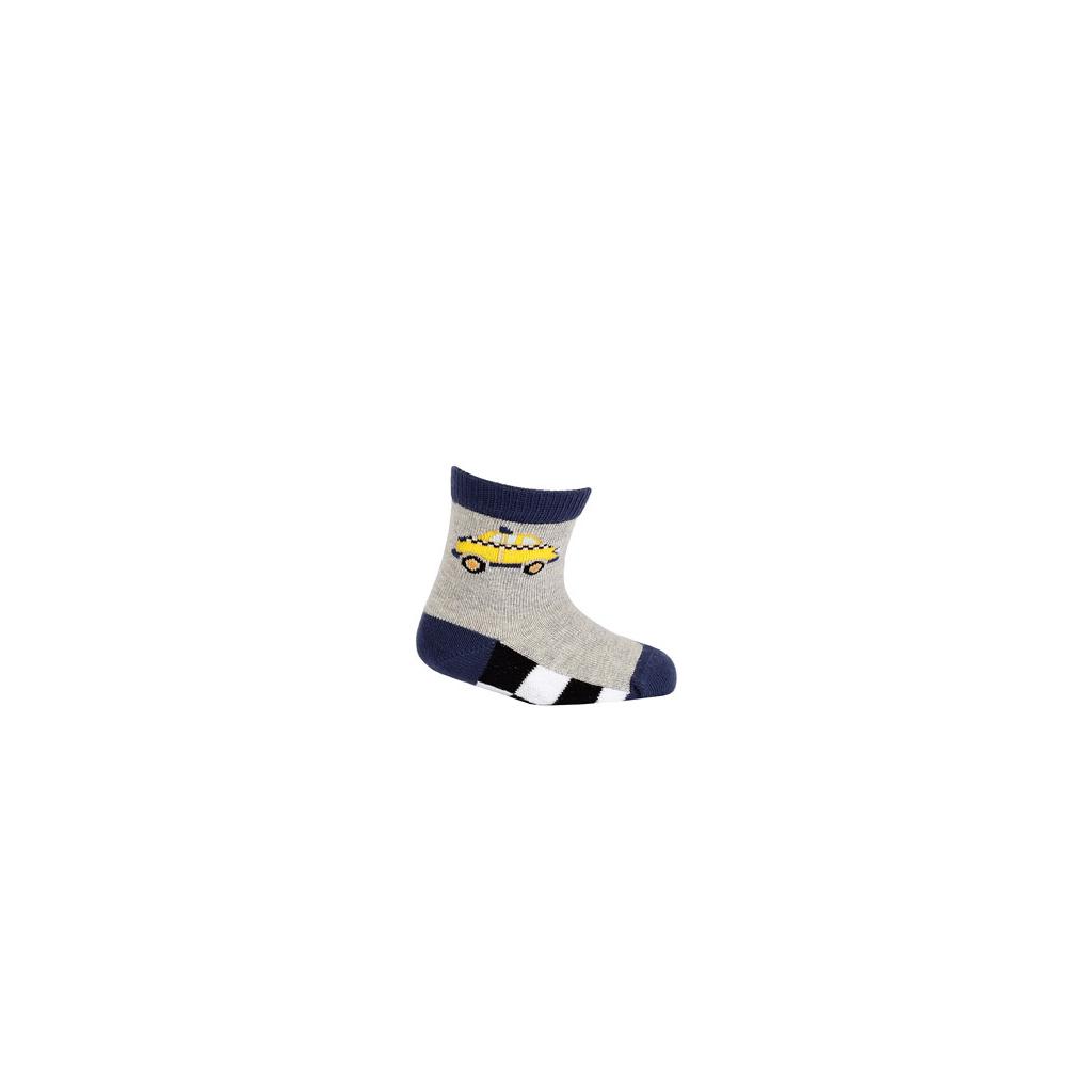 Dojčenské ponožky WOLA TAXI sivé