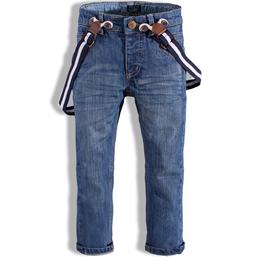 Chlapčenské džínsy s trakmi MINOTI FENWAY