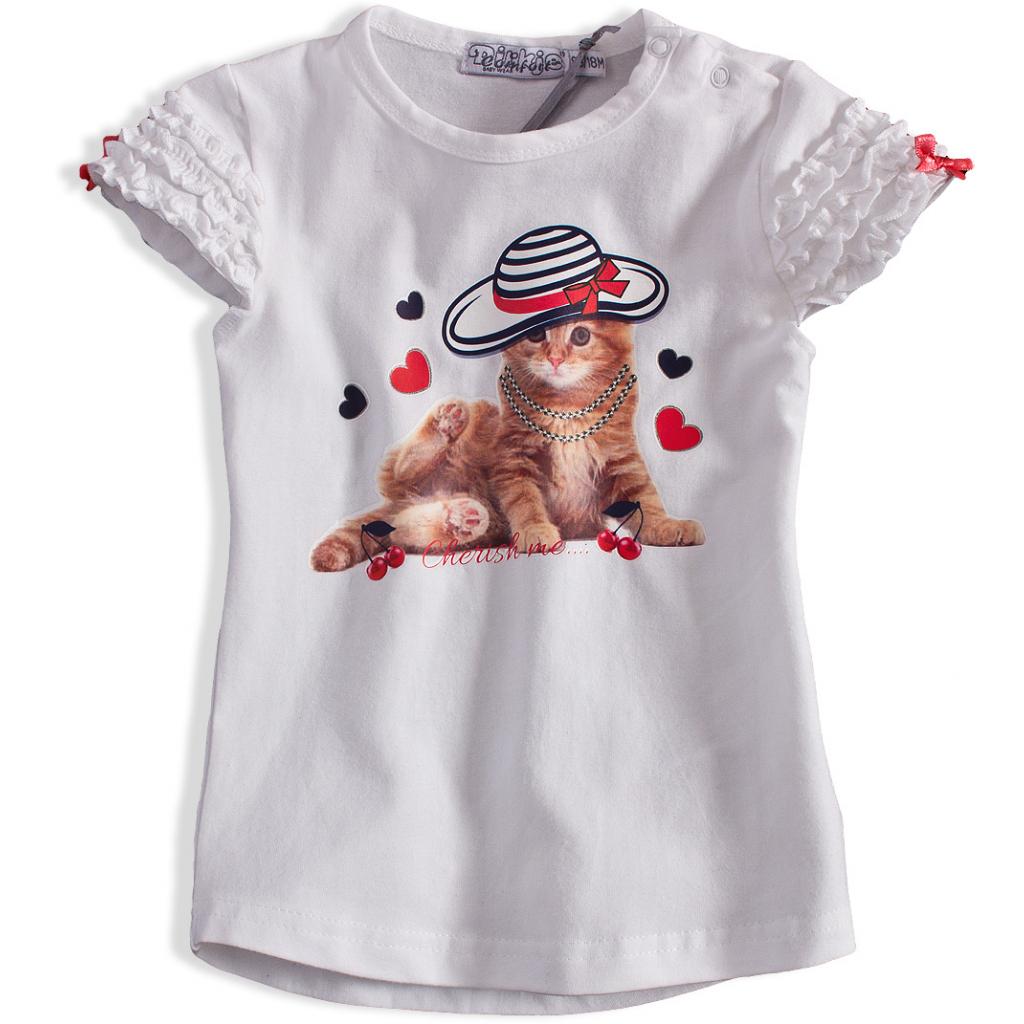 Detské tričko DIRKJE MAČIČKA biele