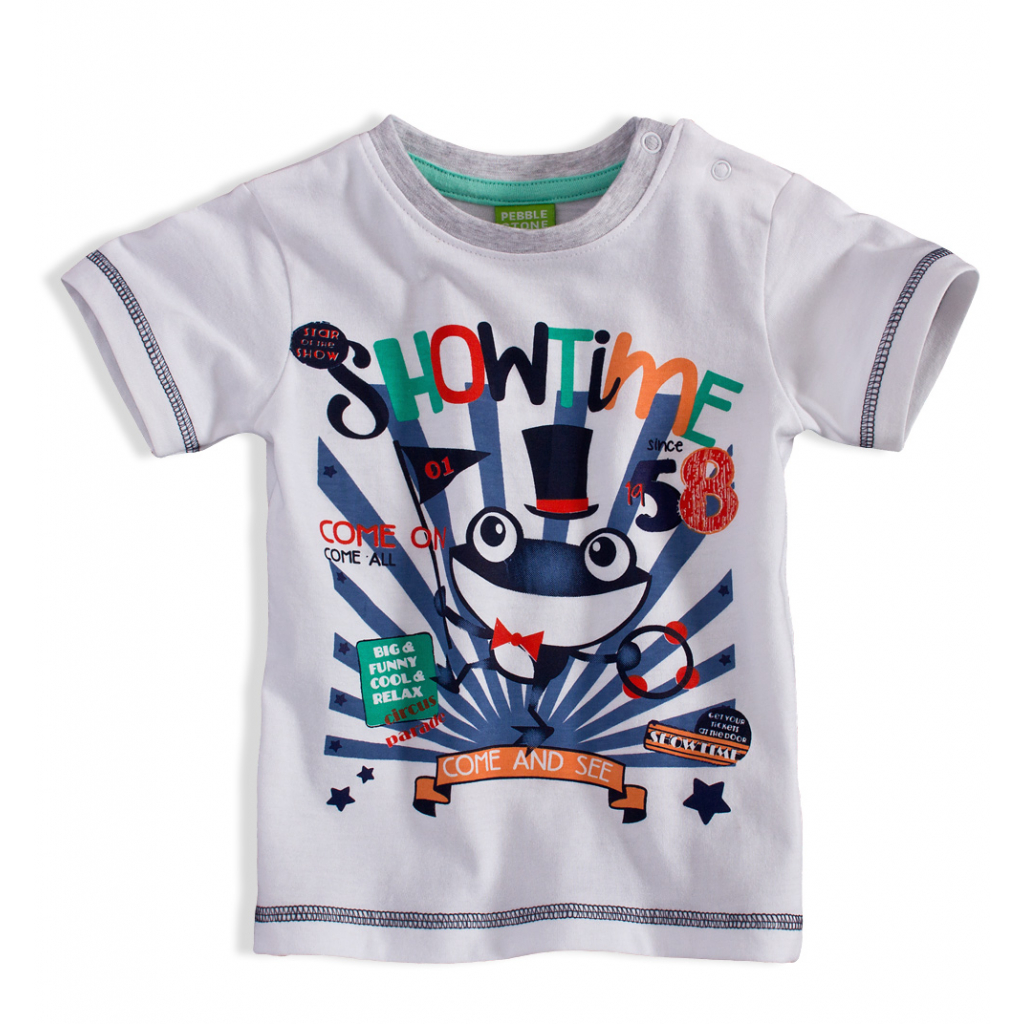 Detské tričko PEBBLESTONE ŽABIAK biele