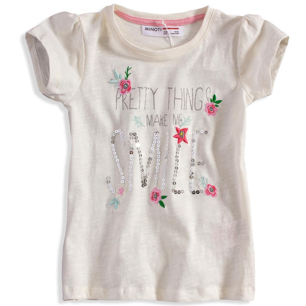 Dievčenské tričko Minoti DITSY biele