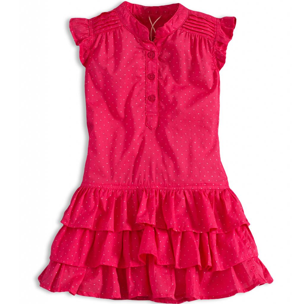 Dievčenské letné šaty PEBBLESTONE GIRLS STAR ružové - PELEA.SK ec6a48f5936
