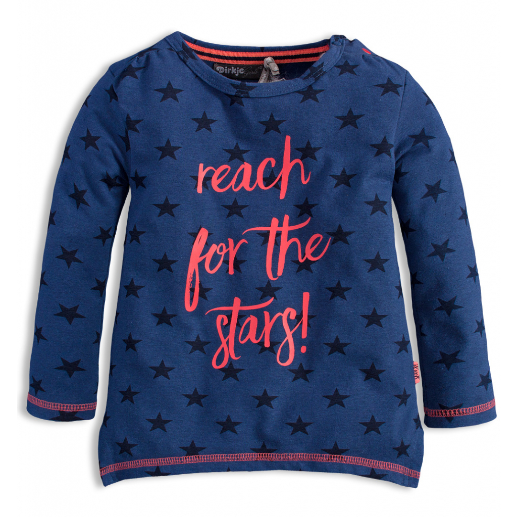 Dievčenské tričko s dlhým rukávom DIRKJE STARS modré