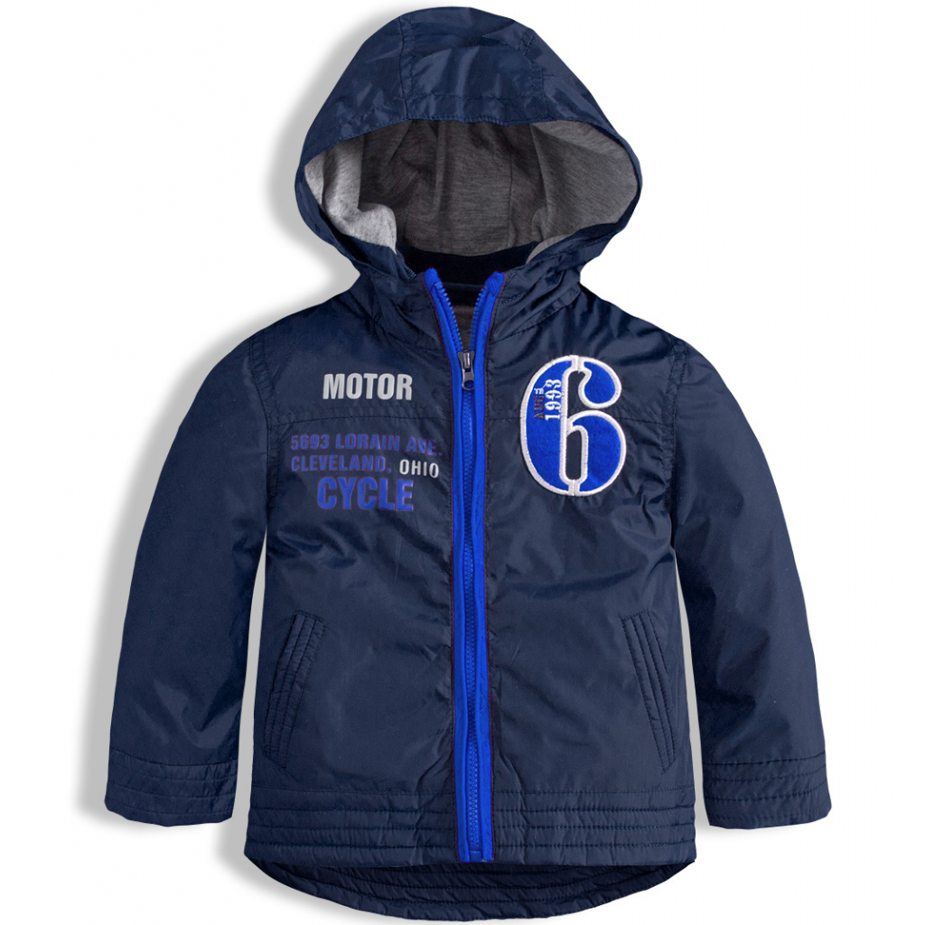 Chlapčenská šuštiaková bunda KNOT SO BAD MOTOR modré číslo