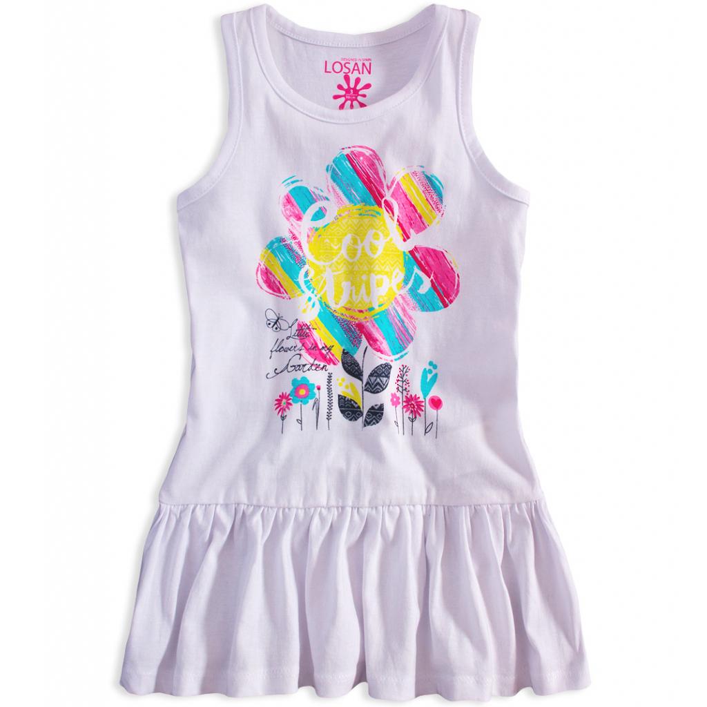27a9ae99df04 Dievčenské bavlnené šaty LOSAN GARDEN biele - PELEA.SK