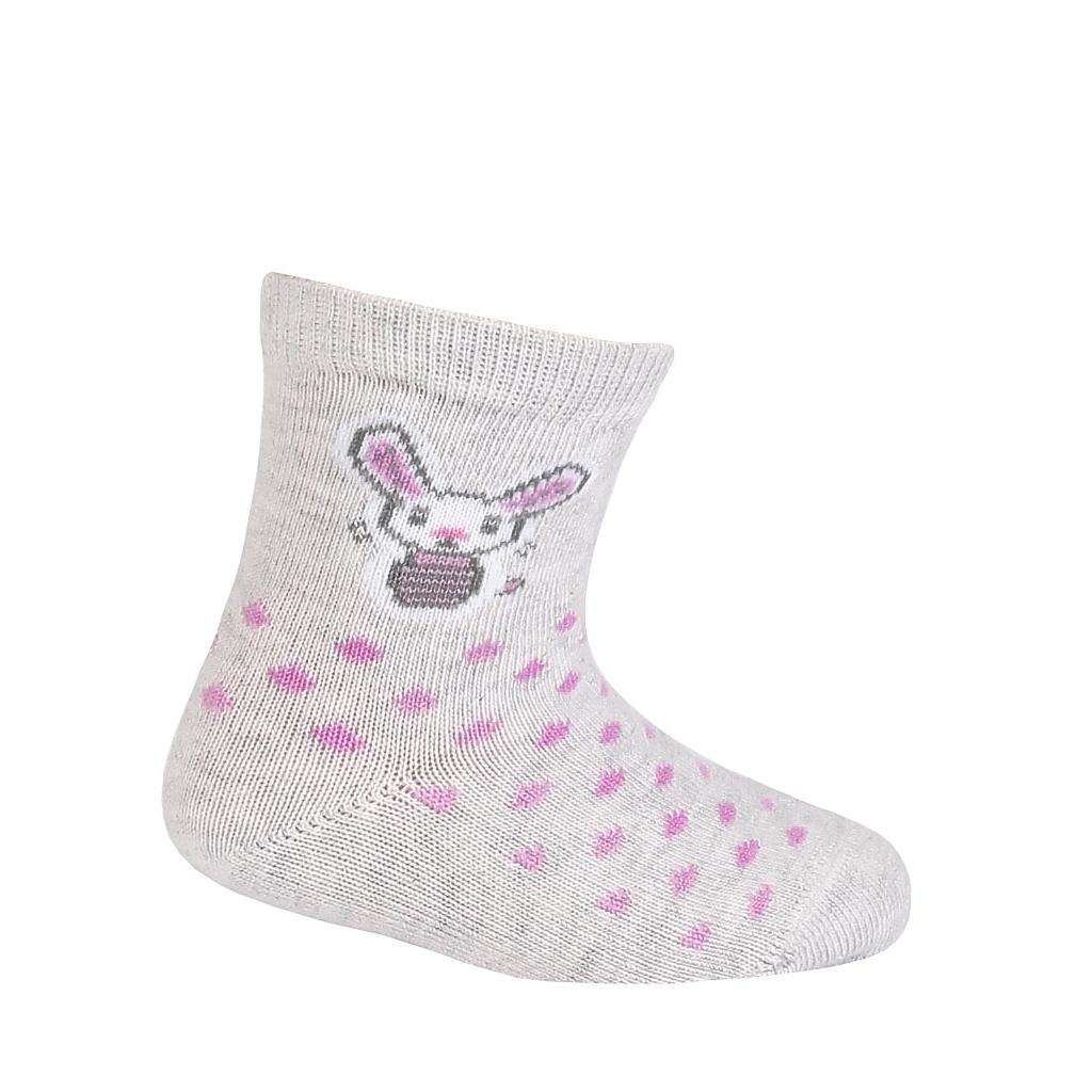 Dievčenské ponožky GATTA ZAJAČIK šedé